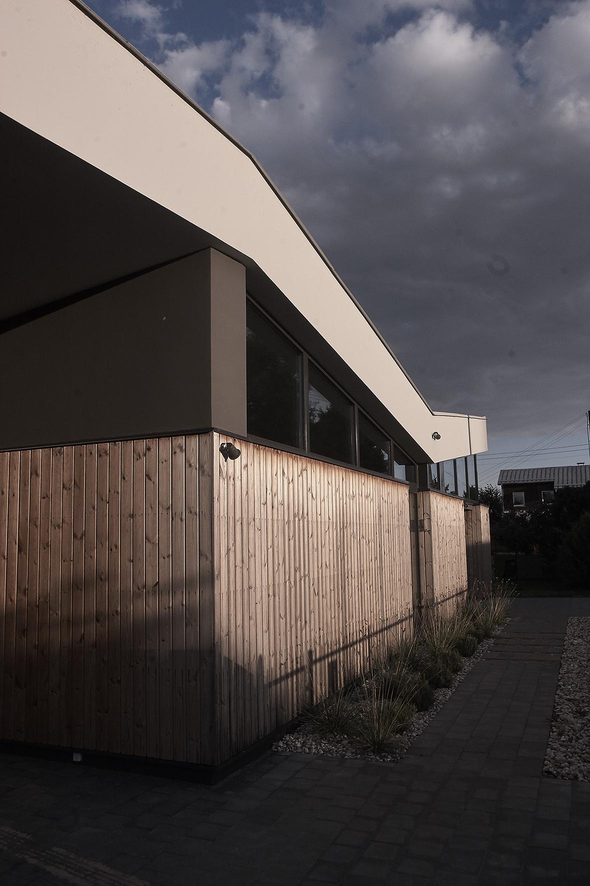 projektuojamo namo fasadas
