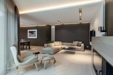 Private residential house interior